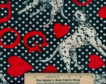 Rare! Shamash & Sons - Realistic Dalmatian Dogs -   100% Cotton - Quilt Shop Quality Fabric - By the Yard