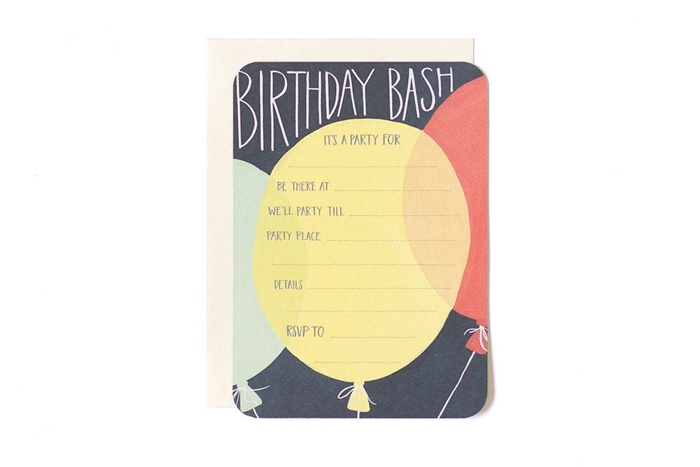 Birthday Party Invitations - Fill in the Blank Invitations - Set of ...