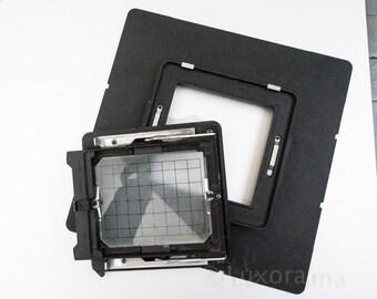 cambo calumet 8x10 to 4x5 reducing back film sheet film camera  photography rotating camera film back