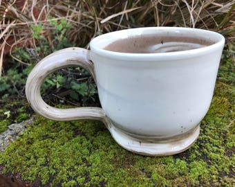 Mixed Clay Mug, Creamy Exterior