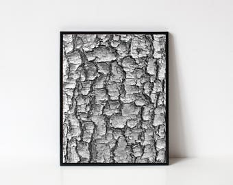 Photography Wall Art, Black and White Photography, Tree Bark, Nature Photography, Tree Photography, Texture, Abstract Art, INSTANT DOWNLOAD