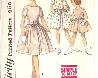 Simplicity 4366  Child's and Girls' One-Pierce Dress   ID169