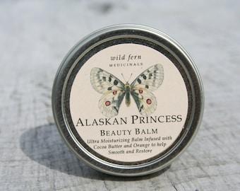 Dry Skin Face Balm // Natural Night Cream // Alaska Princess Beauty Balm // Orange Oil // Cocoa Butter