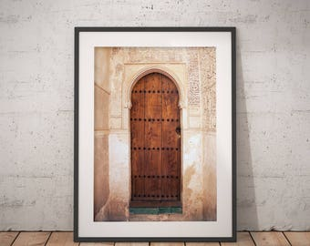 Alhambra Door | Architecture Photography | Instant Download | Printable Art | Granada, Spain | Fine Art Photography