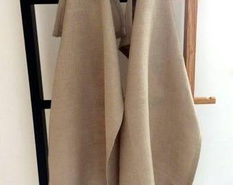 Set of 2 100% Linen Natural Beige Tea Towels - Linen Kitchen Towels