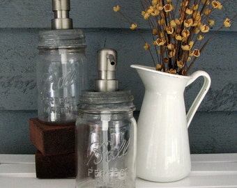 Mason Jar Pint Soap Dispenser with Stainless Steel Pump