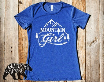 Mountain Girl Fitted Snowboarding Tee ~ Available In 3 Styles and Vintage  Colors