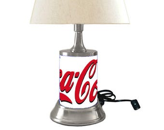 Coca-Cola Lamp with shade, white background