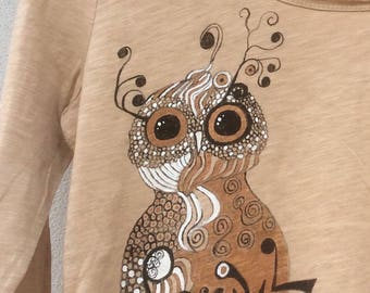 """""""Baby OWL"""" t-shirt Long sleeve size L"""
