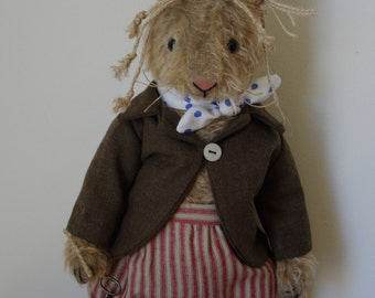 """PDF sewing Pattern for Hampton Bears March Hare 11"""" vintage style artist bunny Alice in Wonderland"""
