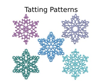 PDF Tatting Patterns - Snowflake Pattern Pack - Instant Digital Download