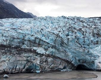 Glacier - photo 8 x 10 - photographie de Glacier Bay - fine art print - Alaska - décor à l'hiver - nature photographie
