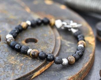 Men's bracelet, men gift bracelet - men's bracelet - gift for men, stretch bracelet, husband gift, gift for him, mens strength, mens gift