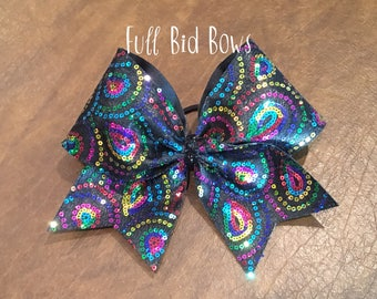 Cheer Bow - Rainbow Sequin
