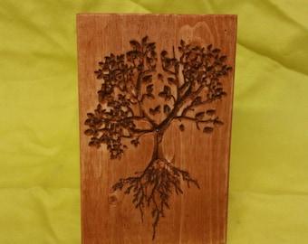 Wood carved tree