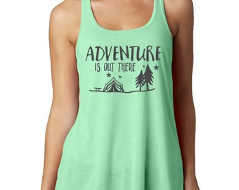 Camping Tank Tops - Adventure is Out There