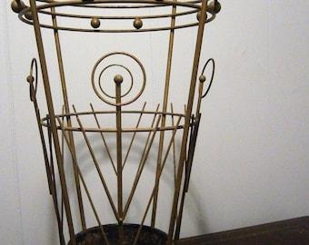 Vintage Umbrella Stand / Retrofuturism / Atomic Age Design / MidCentury Modern Entryway Furniture / Atomic Age Decor