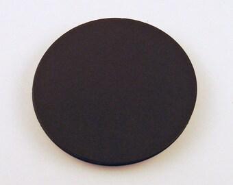Three Inch Die Cut Paper Circles  3 inch Circles in  Jet Black Set of 25