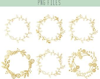 Wreath Clip Art / Christmas edition / Floral Wreath  / Wedding Clip Art / Scrapbook supplies / Hand drawn doodle / Christmas cards / Xmas