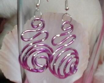 Spiralia 3D carved Lavender (purple) 2mm aluminum wire