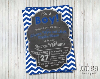 Baby Shower Invitation, It's a Boy Baby Shower Invitaiton, Diaper and Wipes Shower Invitation - DIY, Printable, Baby Boy