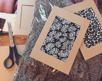 Fragrant Lavender 'Scratch and sniff' handmade greetings cards