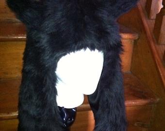 Furry Black Wolf Hat
