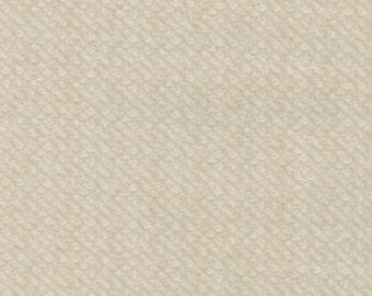 Maywood Woolies Cream Tan Ecru Nubby Tweed FLANNEL Fabric MASF-18505-E BTY