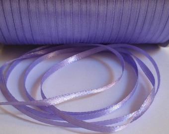 10 m purple 3mm satin ribbon