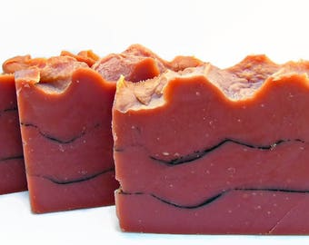 Rose Clay Soap with Activated Charcoal, Sultry Black Jasmine, Rose Kaolin Soap, Vegan Soap