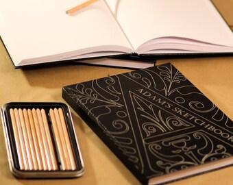 """Personalized Sketchbooks 8.5""""x11"""" - Adam Design"""