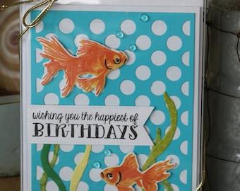 Handmade Goldfish Card Set