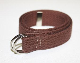 Brown Cotton Adjustable Belt for Children/Toddlers