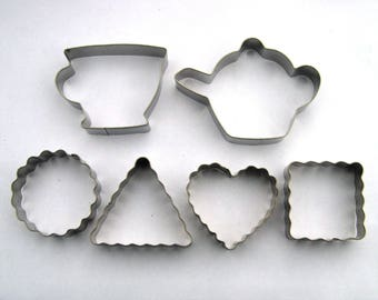 Teapot Teacup Classic Cookie Cutter Teatime Fondant Biscuit Pastry Baking mold Set