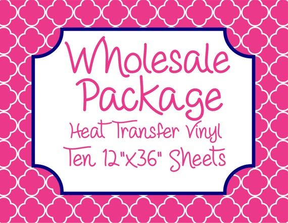 """Wholesale Package for Ten 12""""x36"""" Heat Transfer Vinyl Sheets // Beautiful, Vibrant Patterns"""