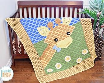 CROCHET PATTERN Rusty the Giraffe Blanket PDF Crochet Pattern with Instant Download