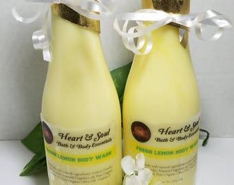 Fresh Lemon Body Wash-Natural Organic Handmade Body Wash-Organic Lemon Body Wash-Natural Lemon Body Wash-Refreshing Body Wash