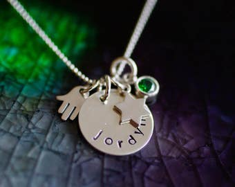 Bat Mitzvah Gift - Bat Mitzvah Necklace - Hamsa Necklace - Jewish Star - Star of David - Gift For Her - Bat Mitzvah Gift - Jewish Gift