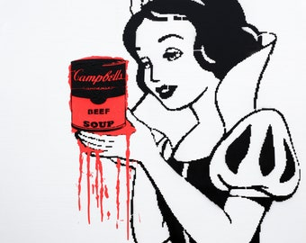 48x48 Original Artwork Popeye holding Campbell's Vegan Soup by L3F0u on canvas