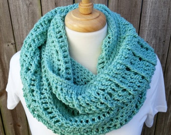 Chunky Infinity Scarf - Turquoise Infinity Scarf - Oversized Infinity Scarf - Winter Infinity Scarf - Gifts for Her