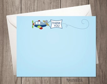 Airplane Thank You Flat Notes - INSTANT DOWNLOAD