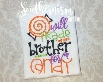 Halloween Shirt, Personalized, Boys Halloween Shirt, Girls Halloween Shirt, Sibling Halloween, Matching Halloween, Trick or Treat Shirts