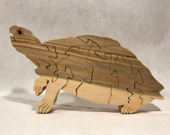 Wooden Turtle Jigsaw Puzzle