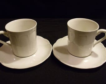 J G Meakin Sterling Colonial Cup and Saucer PAIR