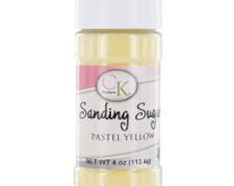 Sanding Sugar Pastel Yellow- 4 Oz
