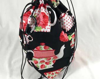 Tea Roses - Little Project Bag