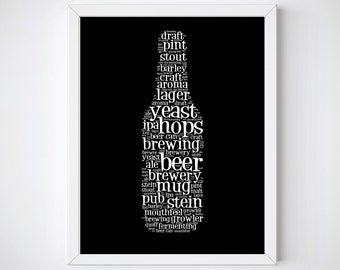 Beer Poster Beer Lover Man Cave Wall Art Beer Print Beer Lover Gifts Printable Wall Art Beer Printables Gifts for Men