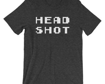 Head Shot Shirt Cool Gamer Gear 360 No Scope