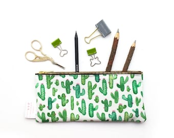 Cactus, Make Up Bag, Pencil Case, Pouch, Cacti, Succulent, Cosmetic Bag, Small Bag, Essentials Bag, Purse, Nature, Student Gift, Toiletries