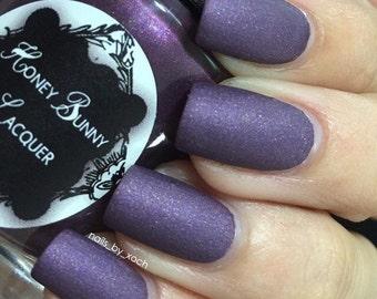 All Night Thing - matte nail polish - matte purple - 5 free - handmade - indie nail polish - purple nail polish - nails - manicure - makeup